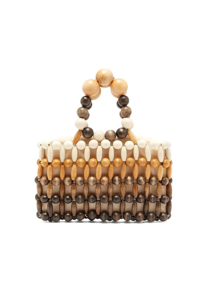 Cult Gaia Cora wooden-beaded bag