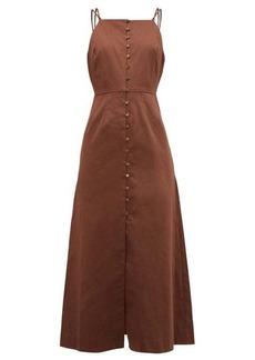 Cult Gaia Giana cotton-blend midi dress