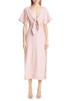 Cult Gaia Maya Open Back Linen Dress