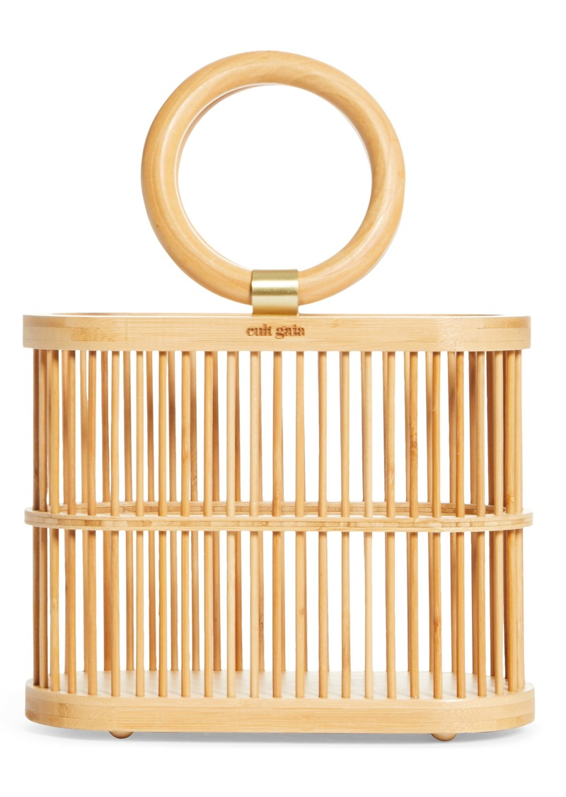 Cult Gaia Mini Coco Top Handle Bamboo Bag