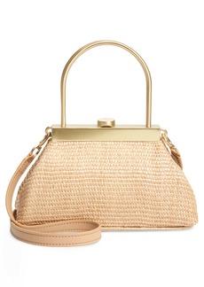 Cult Gaia Mini Estelle Raffia Top Handle Bag
