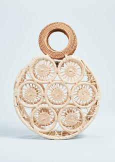 Cult Gaia Small Round Straw Bag