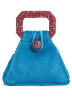 Cult Gaia Solene Genuine Calf Hair Mini Bag