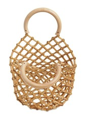 Cult Gaia Emmie Bamboo Net Top Handle Bag