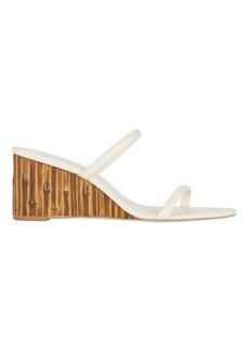 Cult Gaia Eva Leather Wedge Slide Sandals