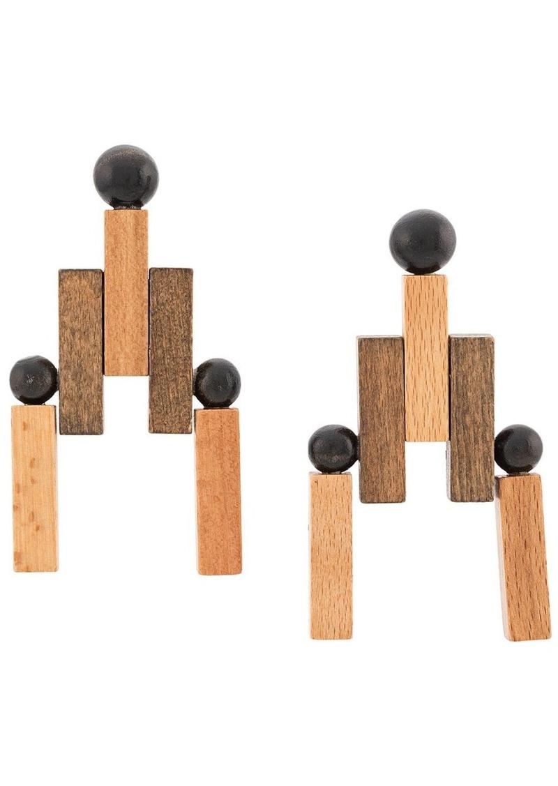 Cult Gaia geometric earrings