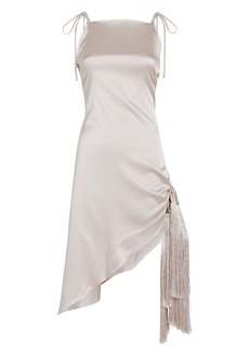 Cult Gaia Giselle Asymmetric Silk Dress
