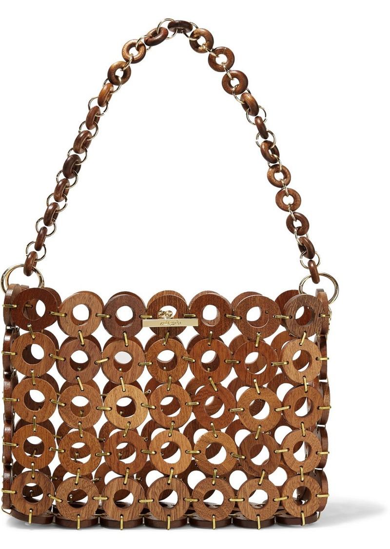 Cult Gaia Jasmin Wood Shoulder Bag