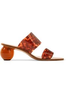 Cult Gaia Jila Tortoiseshell-effect Vinyl Sandals