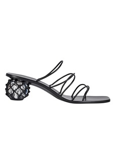 Cult Gaia Kelly Leather Slide Sandals