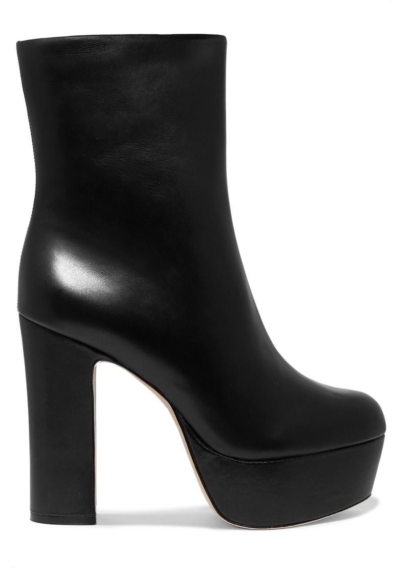 Cult Gaia Kira Leather Platform Ankle Boots