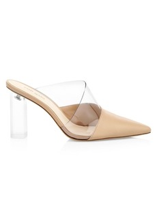 Cult Gaia Krystle Leather & Vinyl Mules