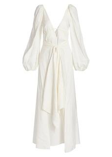 Cult Gaia Larissa Plunging Wrap Dress