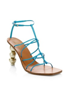 Cult Gaia Pietra Leather Ankle-Strap Sandals