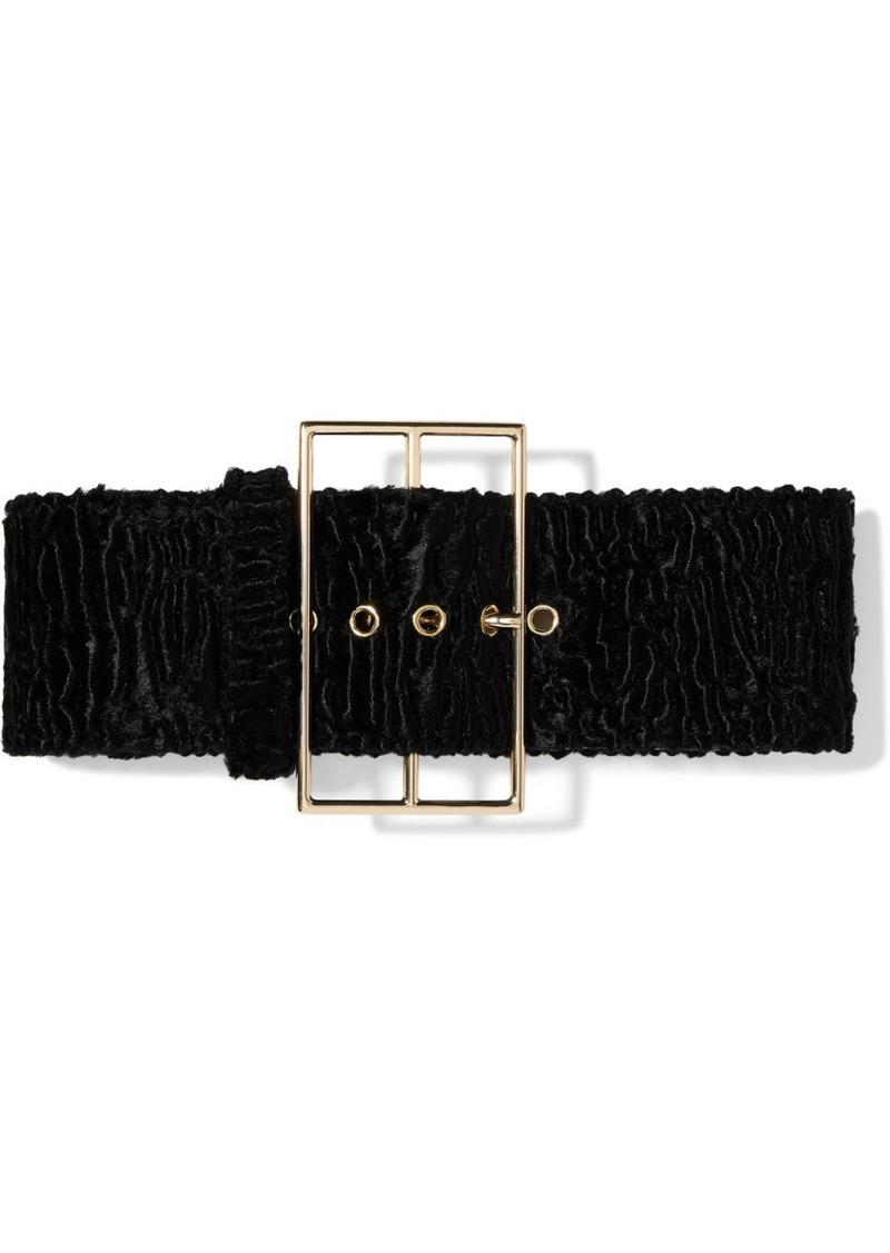 Cult Gaia Rhea Matelassé Velvet Waist Belt