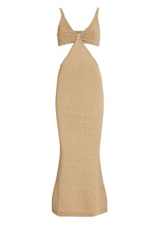 Cult Gaia Serita Cut-Out Knit Maxi Dress