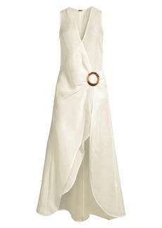 Cult Gaia Solene Wrap Midi Dress