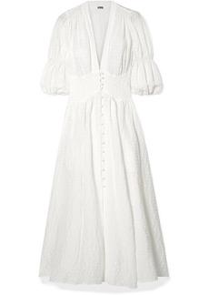 Willow Seersucker Maxi Dress