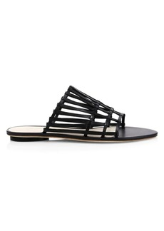 Cult Gaia Zoe Leather Cage Sandals