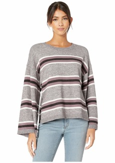 cupcakes and cashmere Amour Striped Pullover with Side Slits