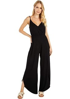 cupcakes and cashmere Belle - Rayon Jersey Jumpsuit with Wrap Leg