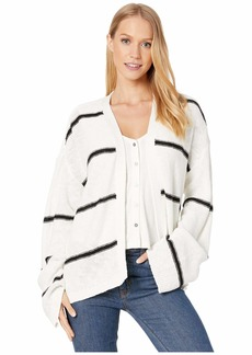 cupcakes and cashmere Capelli Striped Oversized Cardigan