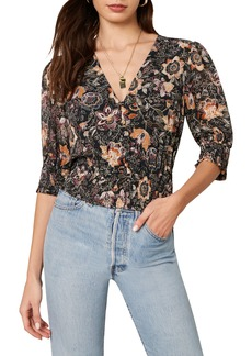 cupcakes and cashmere Abra Floral Blouse