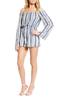 cupcakes and cashmere Amani Embroidered Gauze Romper