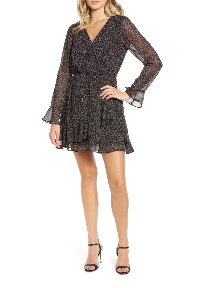 cupcakes and cashmere Amity Speckled Leopard Print Dress