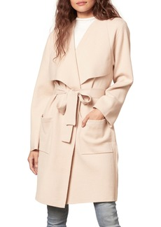 cupcakes and cashmere Andromeda Drape Front Coat
