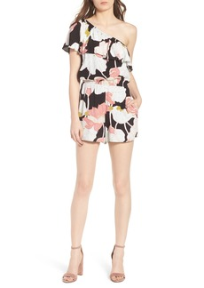 cupcakes and cashmere Arnett Water Lilies One-Shoulder Romper