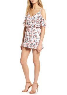 cupcakes and cashmere Audrian Cold Shoulder Romper