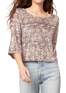 cupcakes and cashmere Bailey Sequin Top