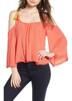cupcakes and cashmere Bettie Cold Shoulder Blouse