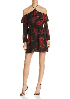cupcakes and cashmere Boden Floral Print Halter Dress