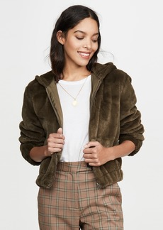 cupcakes and cashmere Breda Faux Fur Bomber