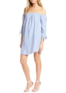 cupcakes and cashmere Ciara Off the Shoulder Shift Dress