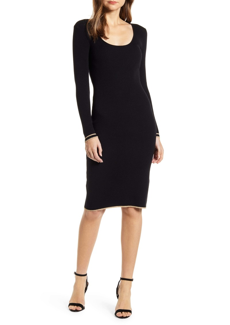 cupcakes and cashmere Claudia Long Sleeve Sweater Dress