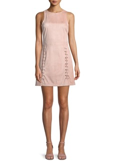 cupcakes and cashmere Daton Sleeveless Lace-Up A-Line Mini Dress