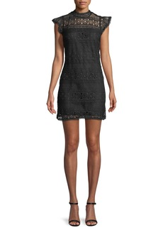 Cupcakes and Cashmere Delight Sleeveless Lace Sheath Dress