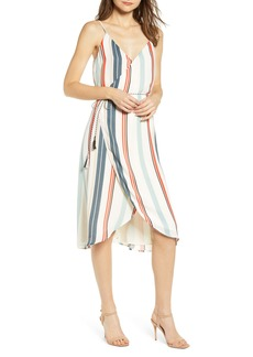 cupcakes and cashmere Desert Stripe Wrap Dress