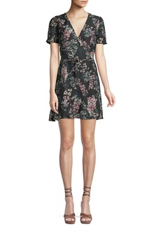 Cupcakes and Cashmere Dezzi V-Neck Short-Sleeve Floral-Print Short Dress