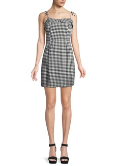 cupcakes and cashmere Eddie Checked Mini Dress