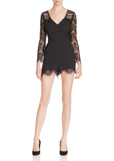 cupcakes and cashmere Erma Lace-Sleeve Romper