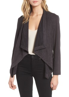 cupcakes and cashmere Faux Suede Waterfall Jacket