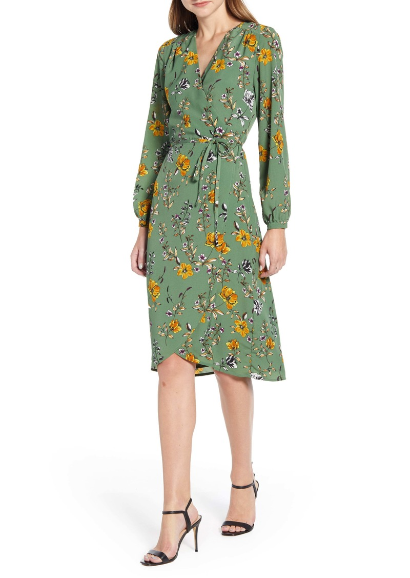 cupcakes and cashmere Floral Wrap Dress