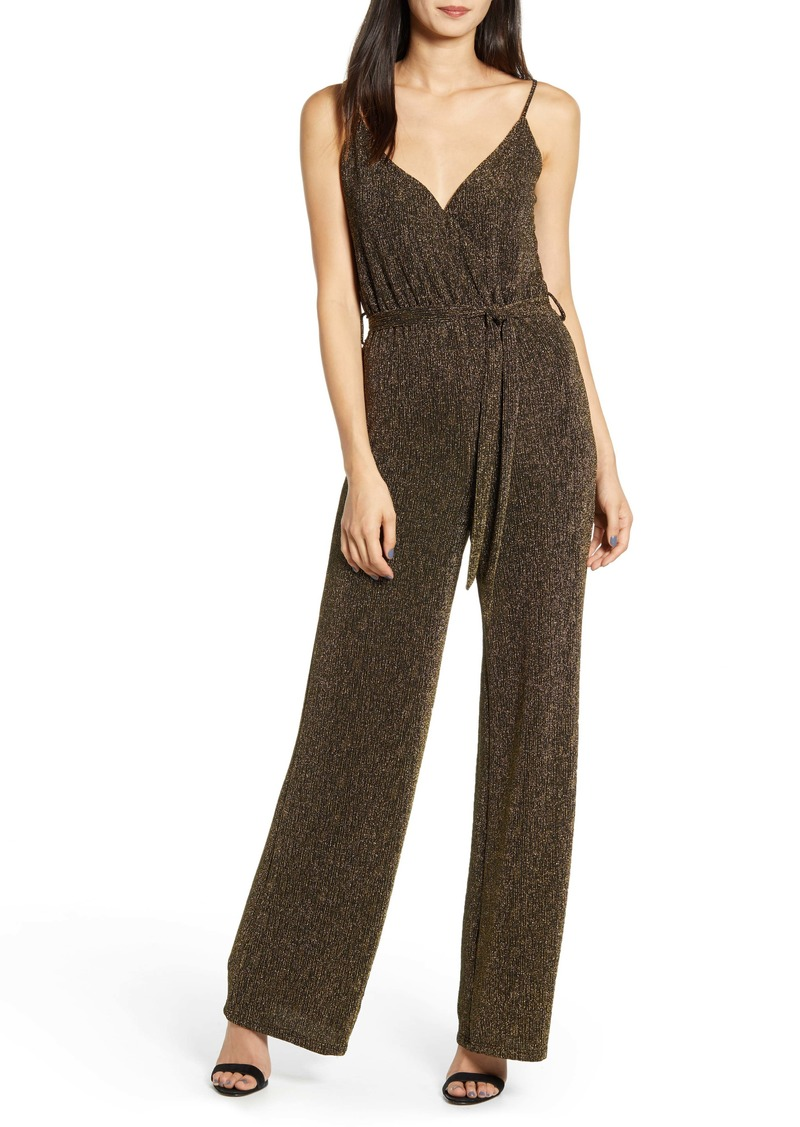 cupcakes and cashmere Florence Metallic Jumpsuit