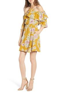 cupcakes and cashmere Fonda Cold Shoulder Halter Dress