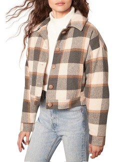 cupcakes and cashmere Gaia Plaid Bomber Jacket