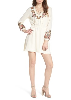 cupcakes and cashmere Garrison Embroidered Minidress